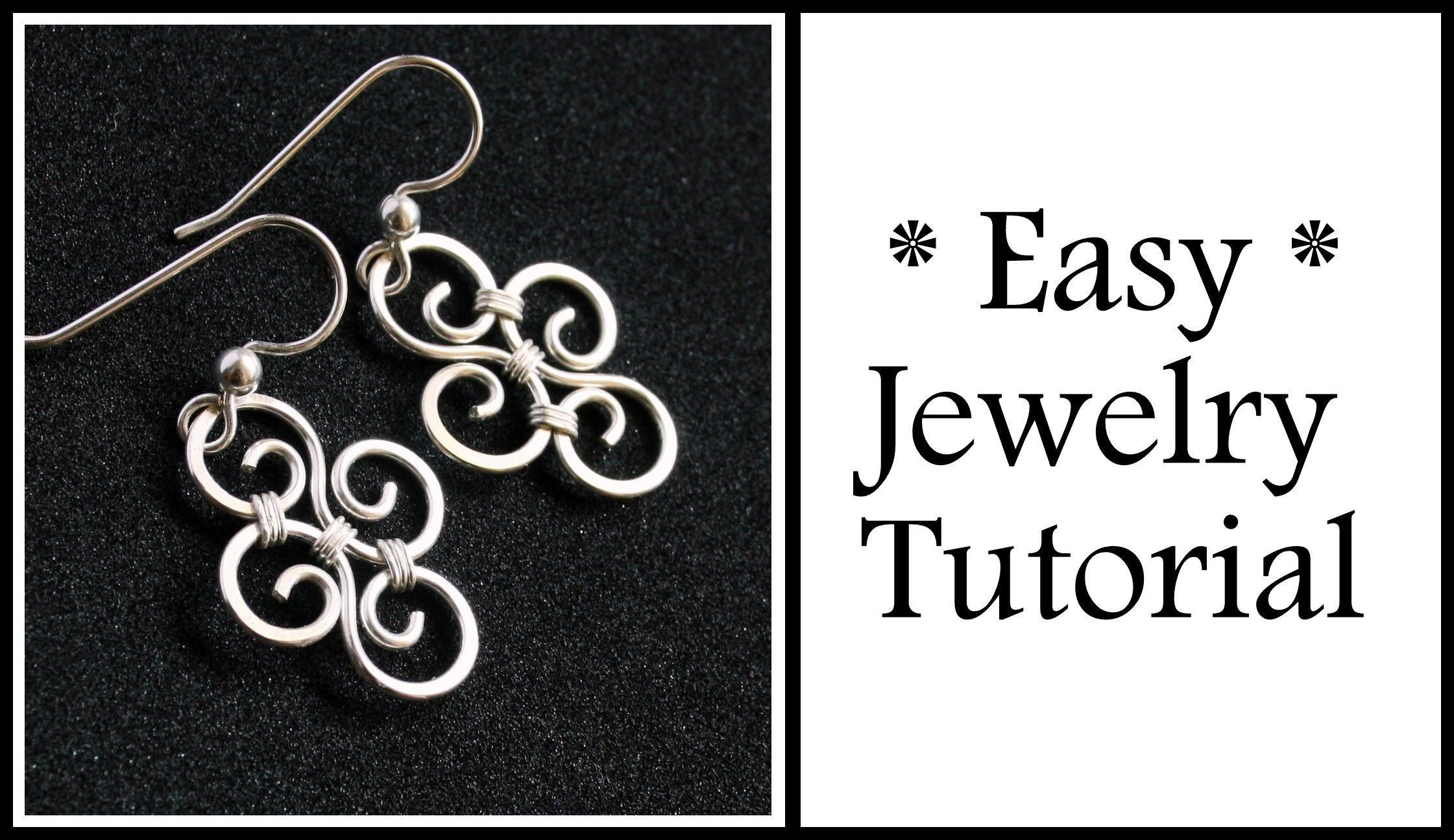 Easy Jewelry Tutorial Simple Swirl Earrings Wire Wrapping For Beginners Easy Jewelry Wire Wrapped Jewelry Tutorials Diy Wire Jewelry