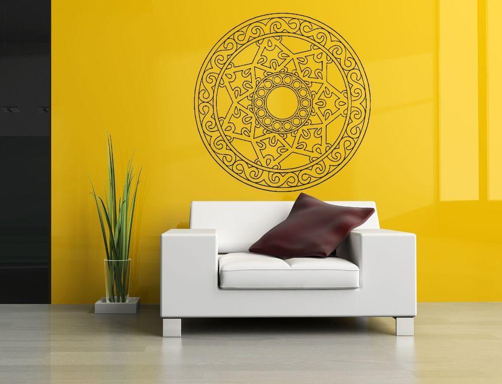 Wall Decor Vinyl Sticker Room Decal Art Mandala Sign Abstract Circle ...