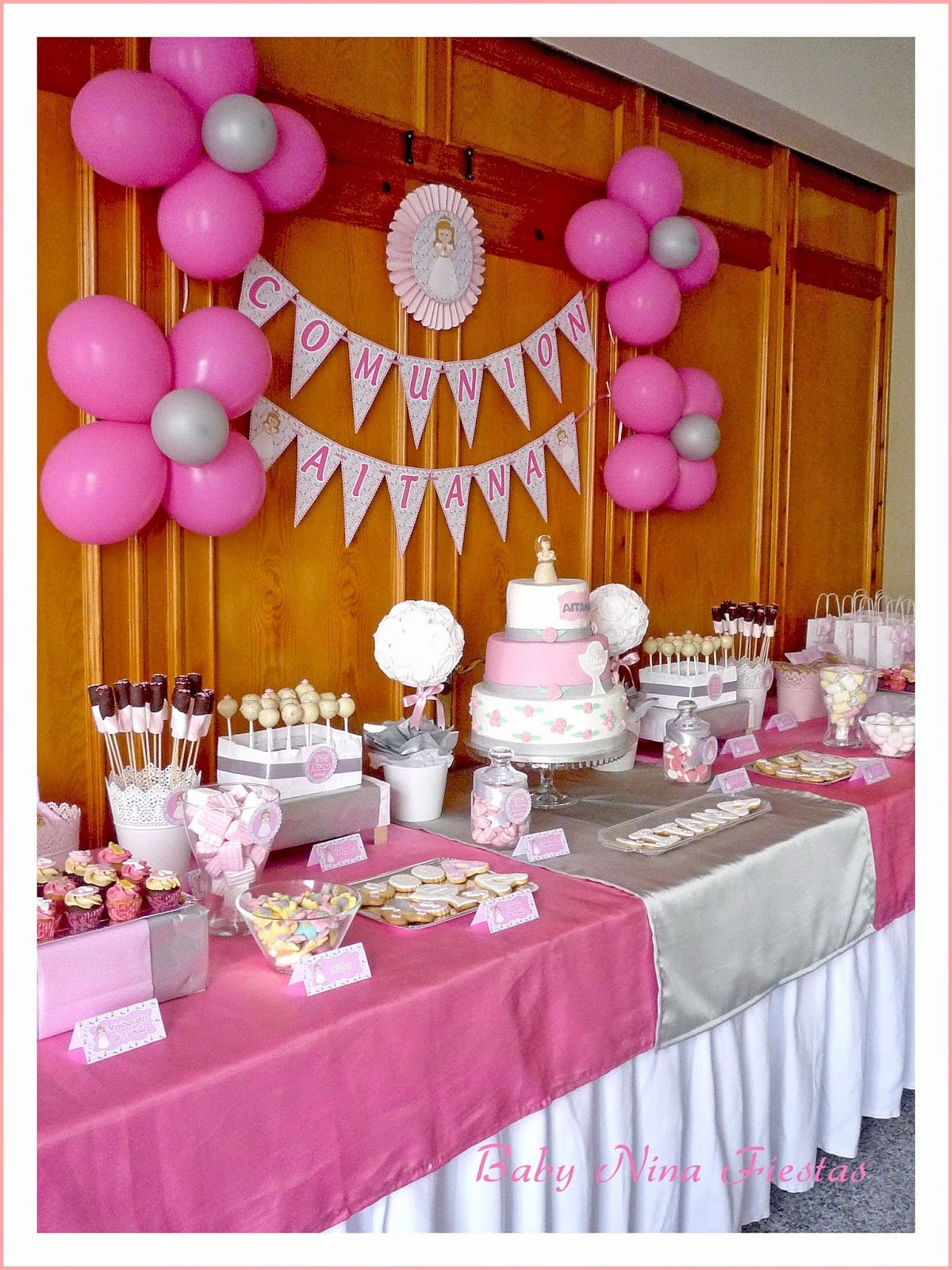 Shower Ideas, Pink Candy, Globes, Christening, Candy Stations, Mesas