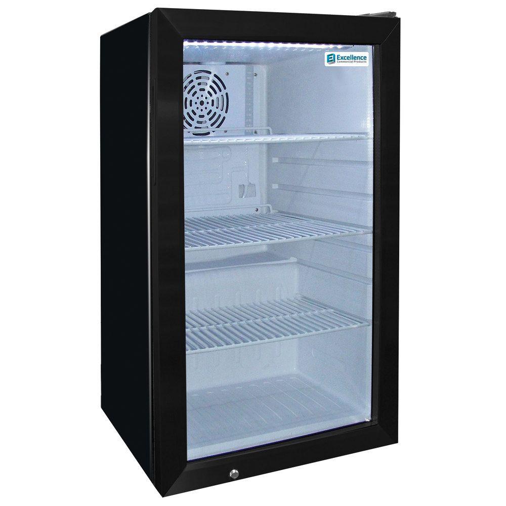 Excellence Emm 4s Black Countertop Display Refrigerator With Swing Door 3 8 Cu Ft Display Refrigerator Countertop Display Stainless Steel Doors