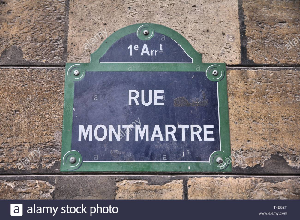 Old Montmartre Sign Google Search Street Signs Paris Old Street