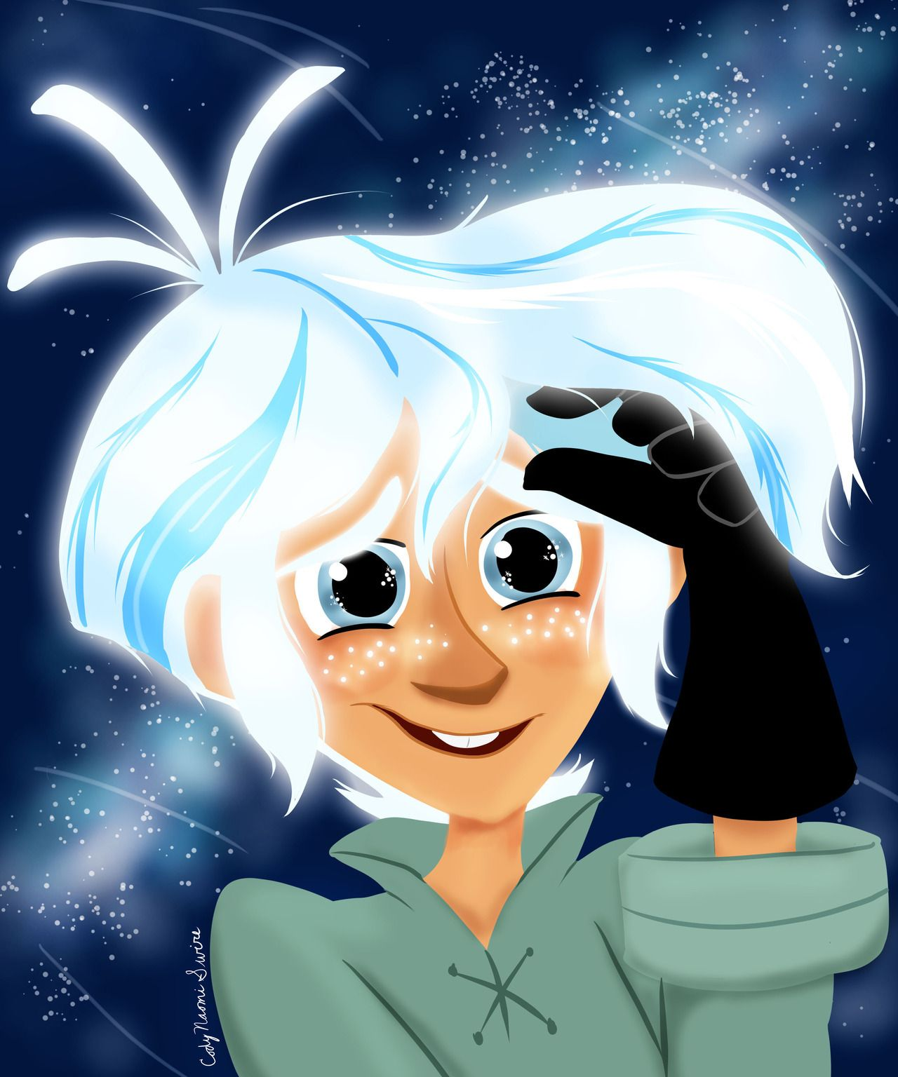 Moon Varian Portrait Just Really Wanted To Draw A Happy Moon Varian And Wanted To Draw Some Floofy Glowing Hair From The Disney Tangled Anime Art Blog