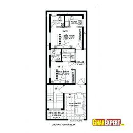 House plan in plot design unique  south facing  also ft by plans elegant for feet rh pinterest