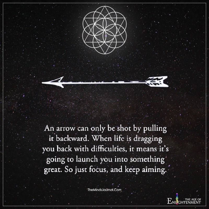 An Arrow Can Only Be Shot By Pulling In Backward Backwards