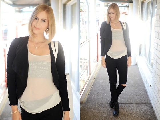 Get this look: http://lb.nu/look/7769118  More looks by Anna K: http://lb.nu/annakek  Items in this look:  Vero Moda Blazer, Second Hand Shirt, Cubus Jeans   #minimal