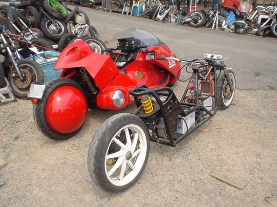 An Exact Full Functioning Replica Of Kaneda S Motorcycle From