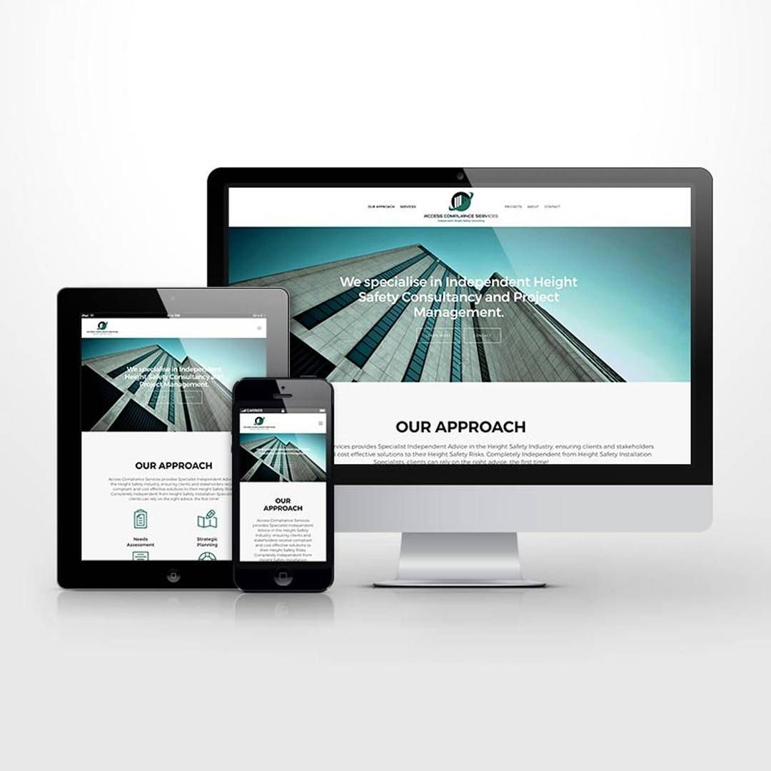 Responsive website UI for height safety business. #kore #website #responsive #design #wordpress