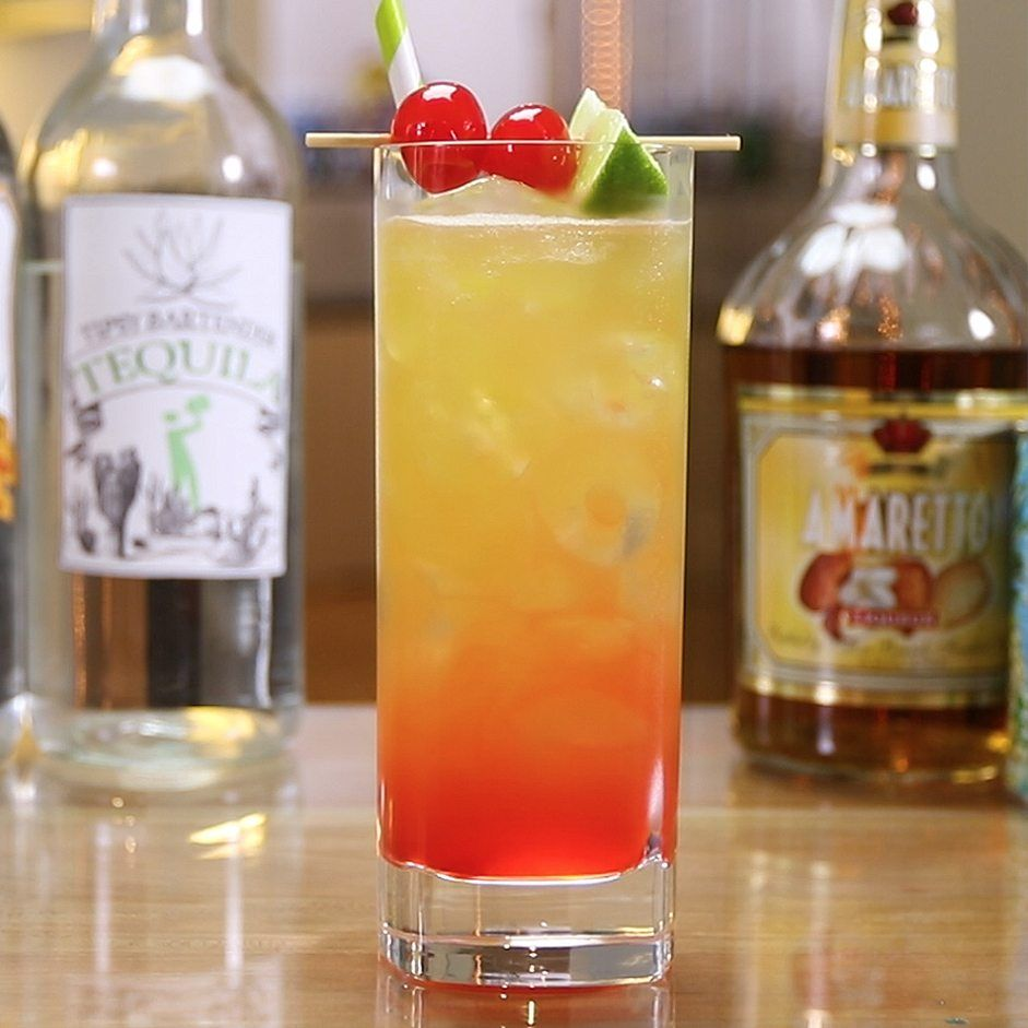 Mexican Sunset Tipsy Bartender Recipe Peach Schnapps Drinks Peach Drinks Schnapps