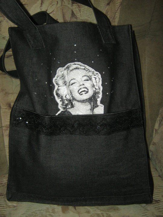 Marilyn Monroe Embroidered Bag Marilyn Monroe Photo Embroidery