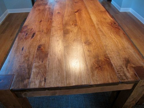 Rustic Hickory Table Top Table Rustic Dining Dining Table