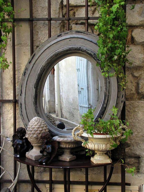 miroir via au pays des merveilles d co jardin miroir. Black Bedroom Furniture Sets. Home Design Ideas