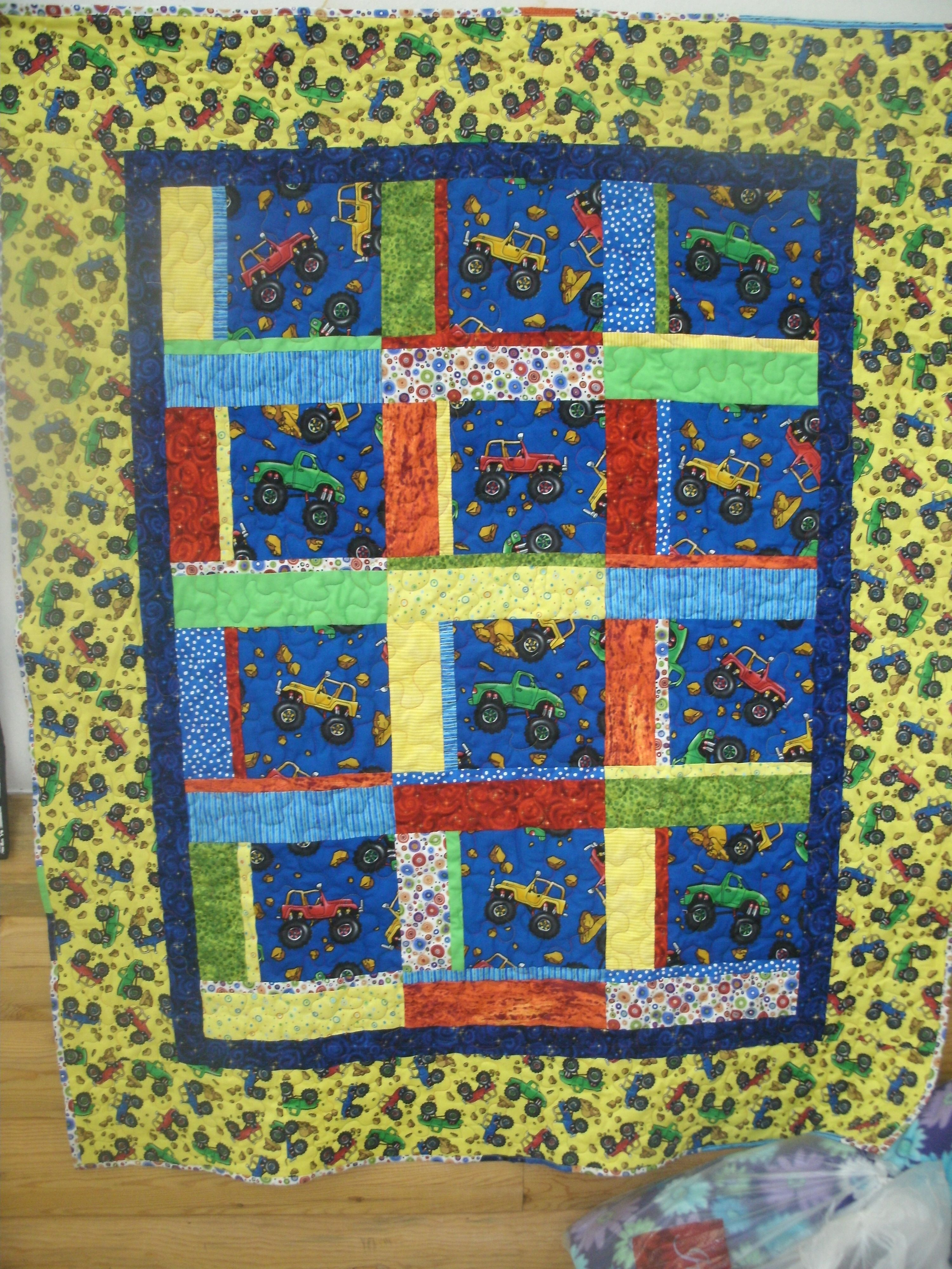 Off Road Jeep Quilt For Project Linus Quilts Blanket Projects