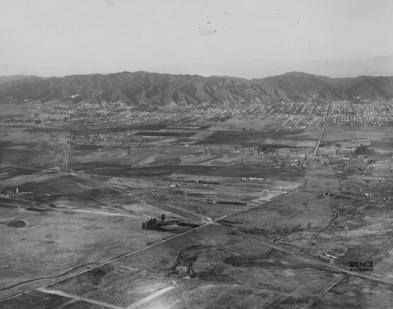 1922 Aerial View Looking Northwesterly Showing Crescent Ave Later Fairfax Ave Running Diagonally From Lower Left To San Vicente Aerial View Fairfax Ave