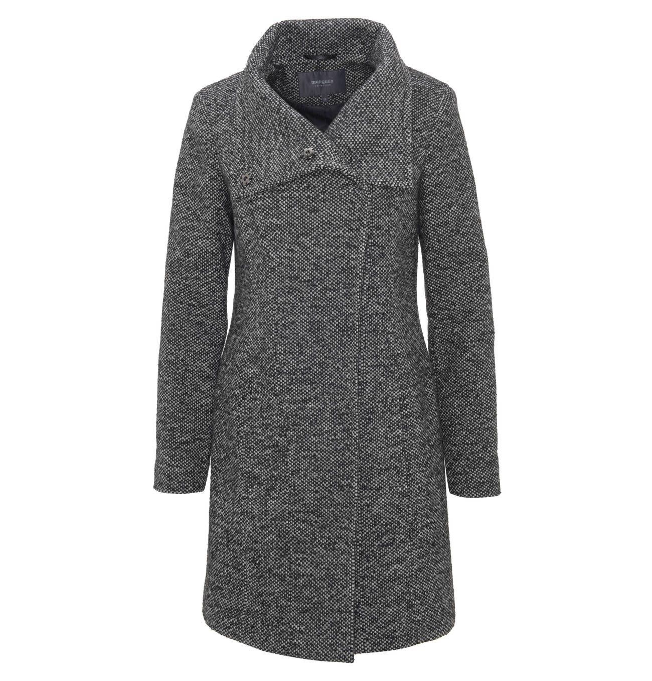 manguun collection Mantel aus Jacquard mit Wickelkragen und