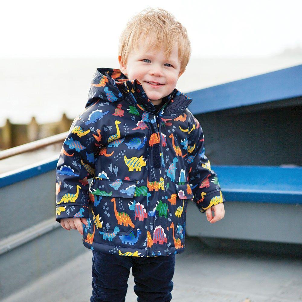 a747b918d082 Dinosaur Cozy Winter Fisherman Rain Coat