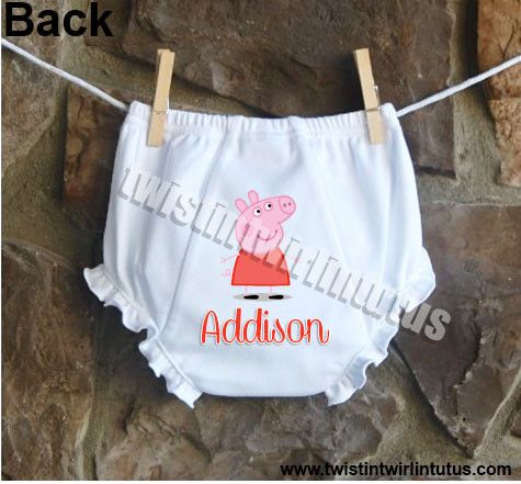 Peppa Pig Diaper Cover | Peppa Pig Birthday Party Ideas | Peppa Pig Birthday Outfit | Birthday Party Ideas for Girls | Birthday Party Ideas for Kids | Twistin Twirlin Tutus #peppapigbirthday