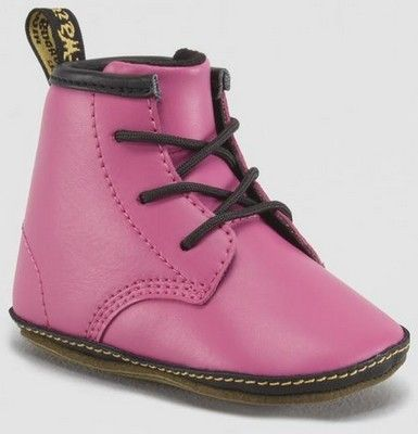 Dr Martens Crib Lace Bootsie - hotpink http://www.wildfree.com/prods/dmR15329670.html #drmartens #booties #babydocs #babybooties #cute