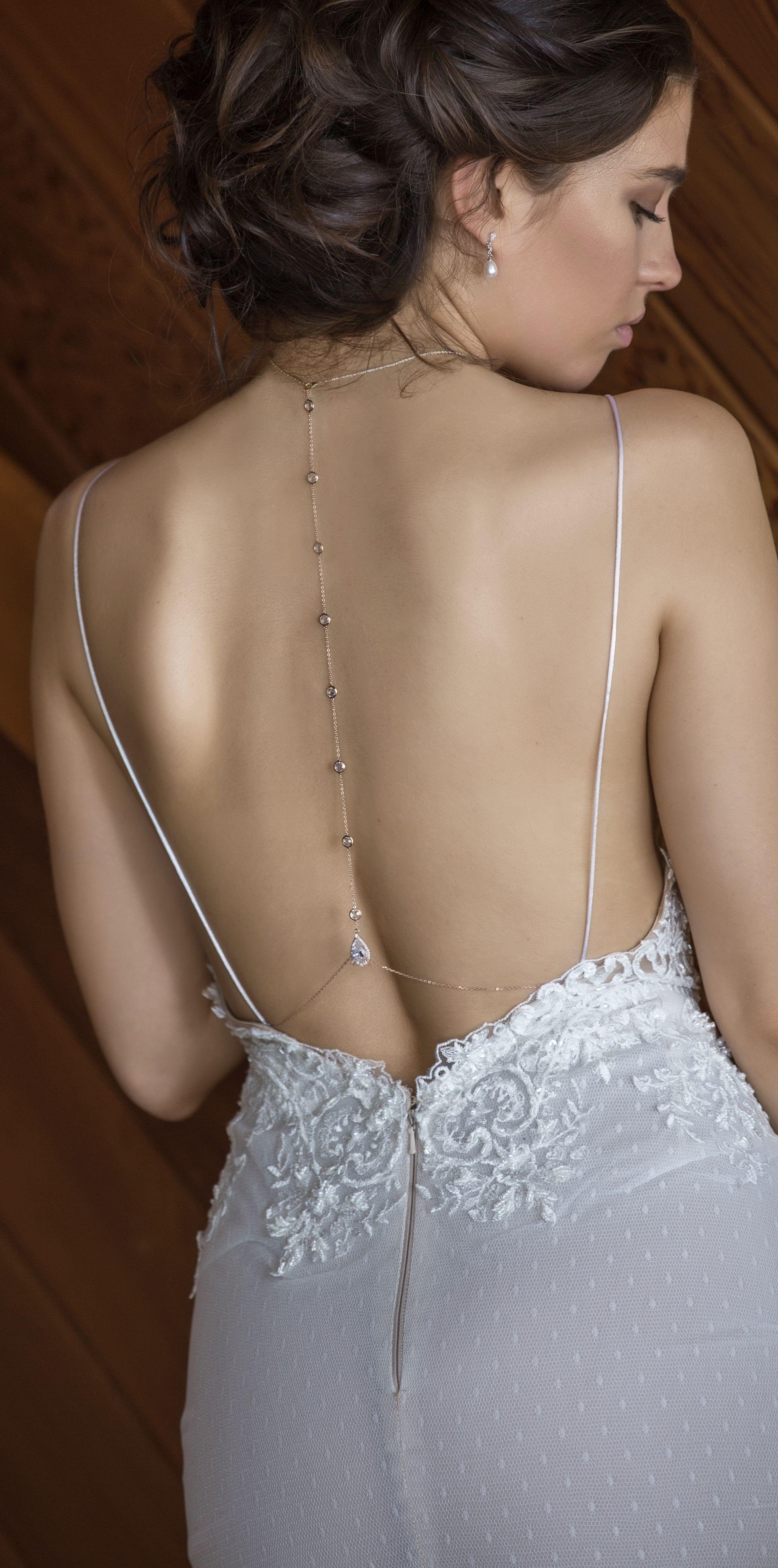Margaux cz back pendant necklace wedding pinterest wedding and