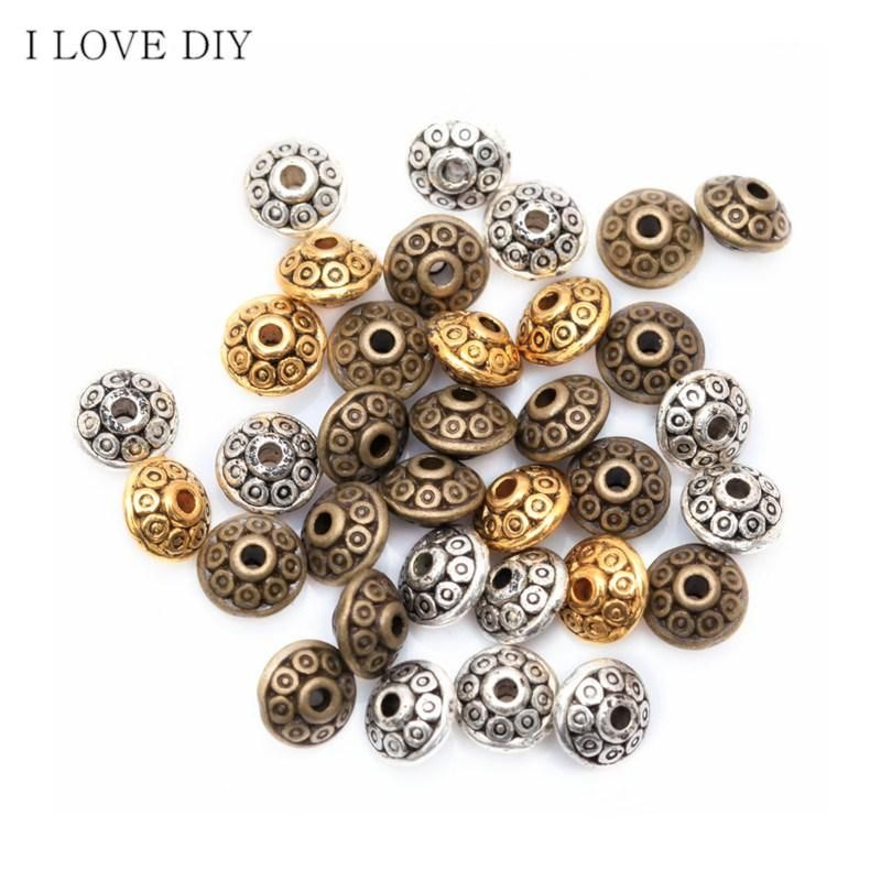 3 Colors 100Pcs Mixed Tibetan Silver Spacer Beads Fashion DIY Beads For Jewelry  Making Bracelet 6b68b0bb99d7