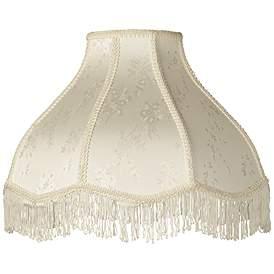 Cream Scallop Dome Lamp Shade 6x17x12x11 Spider 28195 Lamps Plus Custom Lamp Shades Shabby Chic Lamp Shades Lamp