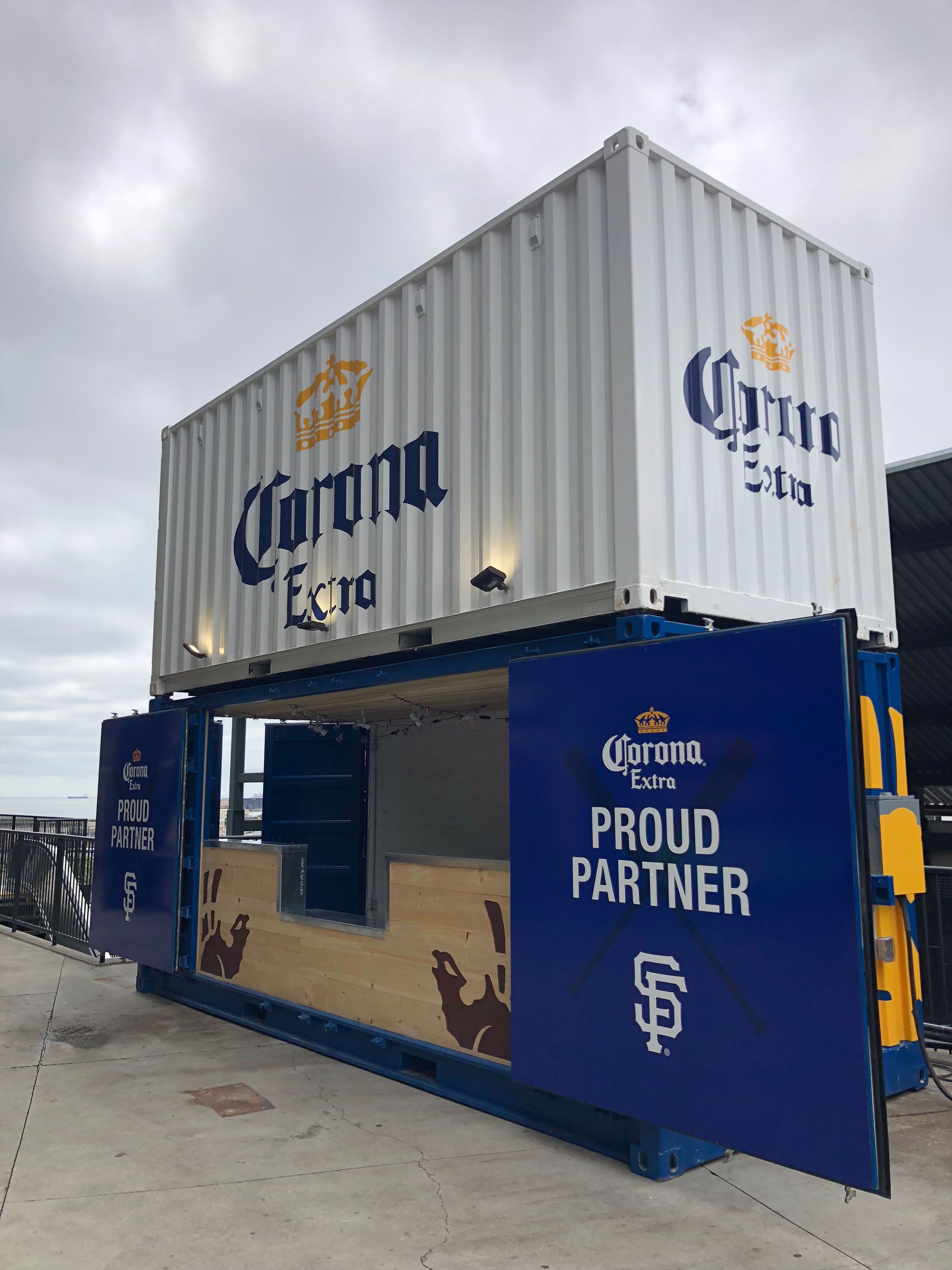 Customized Two Story Shipping Container Corona Bar For The San Francisco