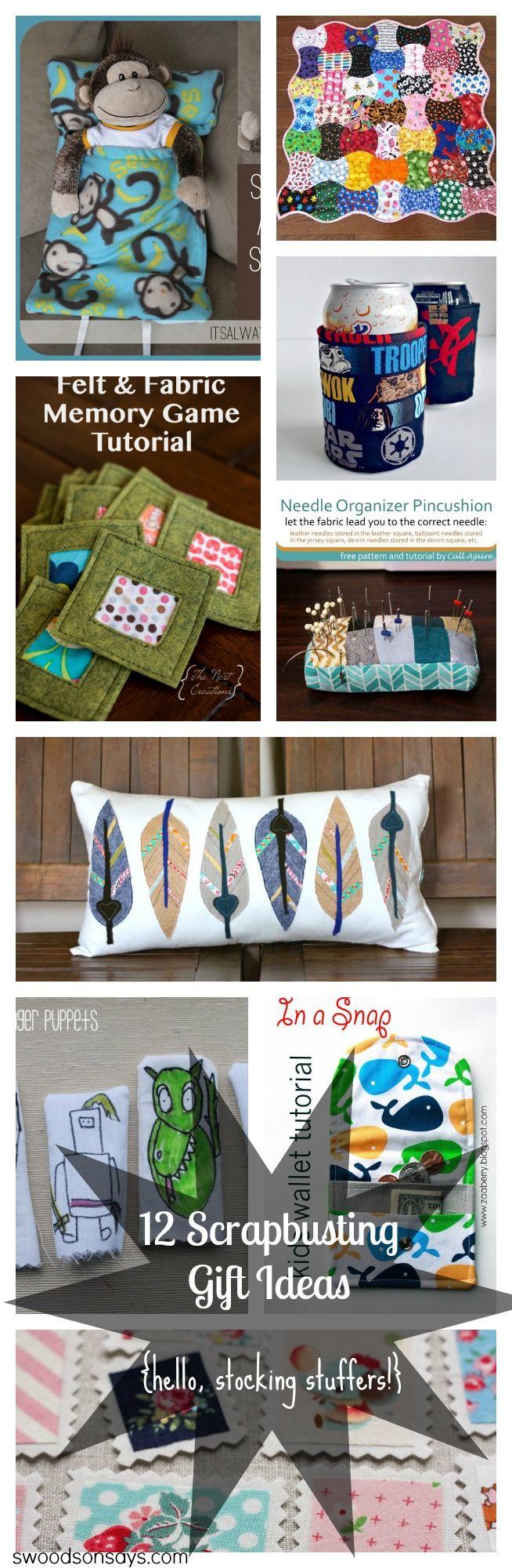 35+ Handmade stocking stuffer ideas to sew #scrapfabric