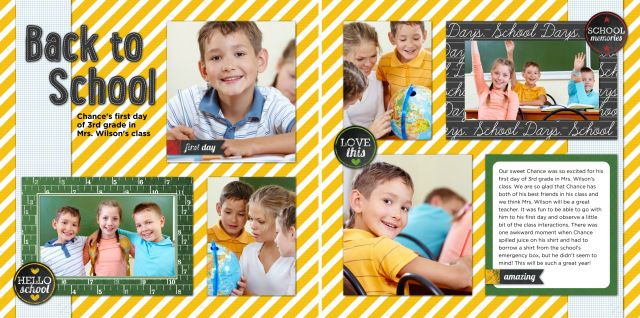 School Days Collection + FREE Digital Download #backtoschool #scrapbooking #digitalkits