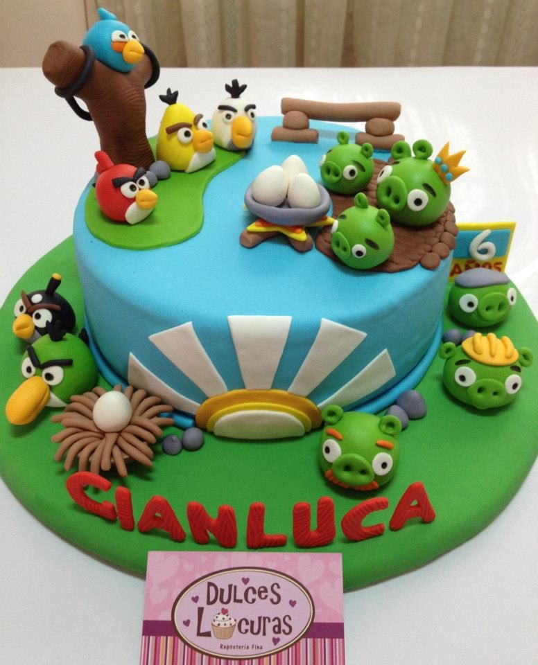 Angry Birds Cake Con Imagenes Tortas Dulces Tortas Infantiles