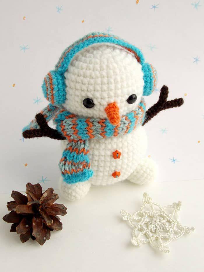Ideas de crochet de Navidad - Patrón de muñeco de nieve de ganchillo ...