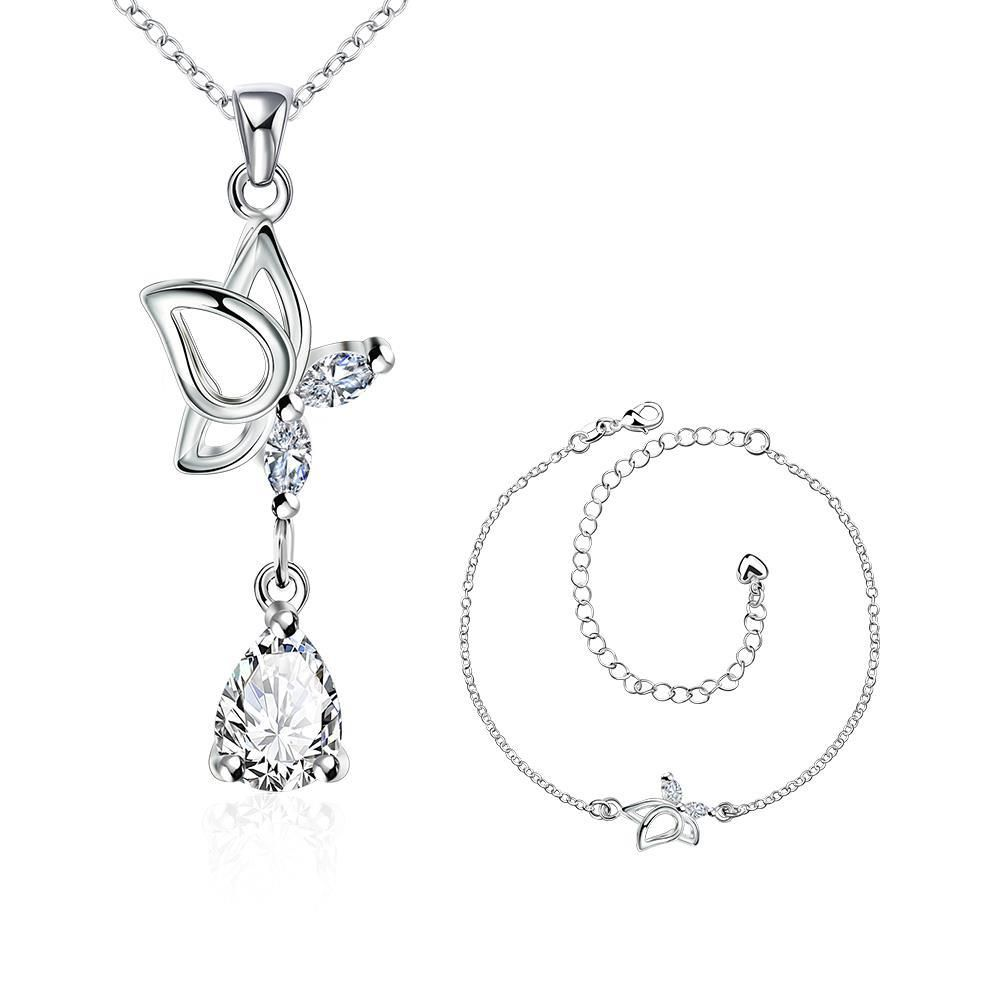 Sc fashion popular silver plated jewelry sets for sale wedding