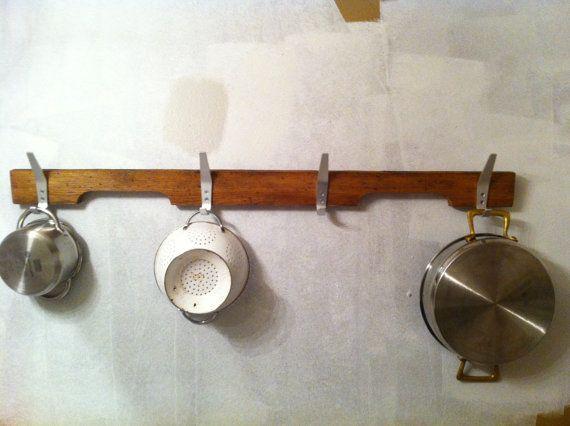 Reclaimed wood pot rack