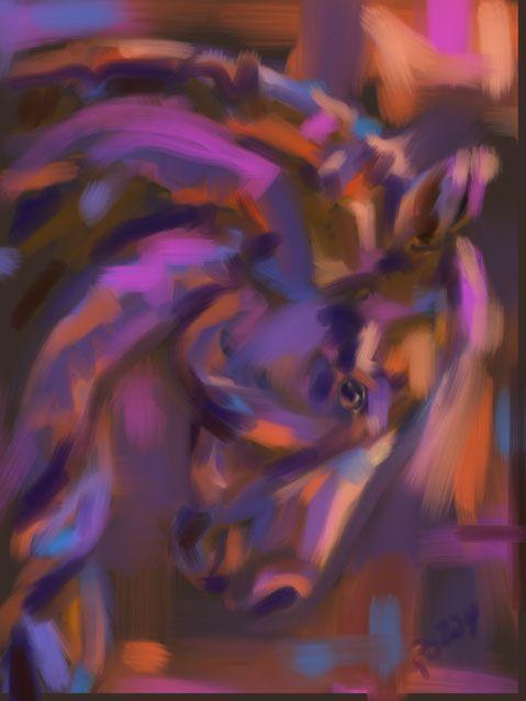 Horse Strong head by Go van Kampen