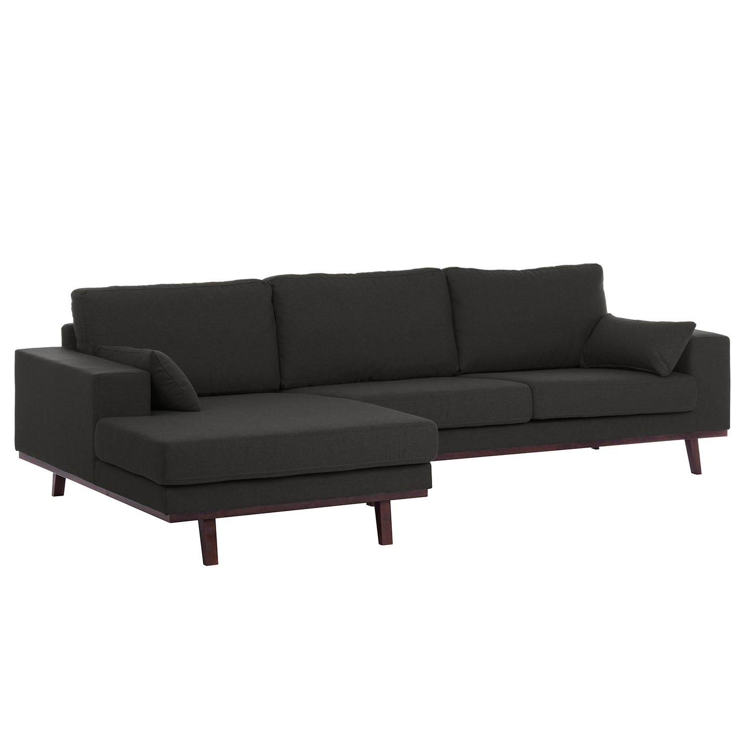 Sofa Mit Ottomane Und Bettfunktion Ecksofa Billund I Webstoff Products Sofa Furniture