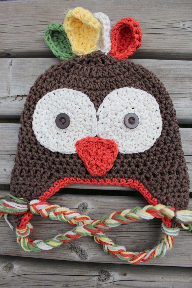 Crocheted turkey hat www.hatsbyalyssa.com  00d0abfc68d