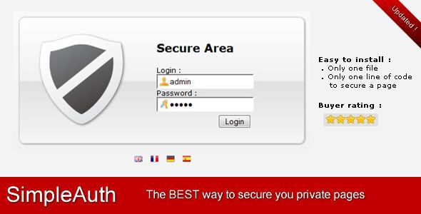 SimpleAuth Very Simple Secure Login System Coding