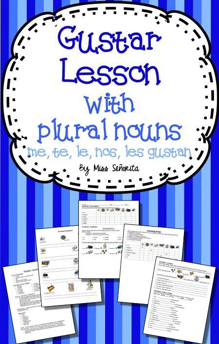 Spanish Gustar with Plural Nouns Lesson | Spanish I Collaborative ...