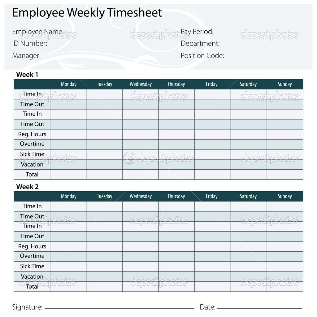 Free Printable Timesheet Templates – Time Sheet Templates