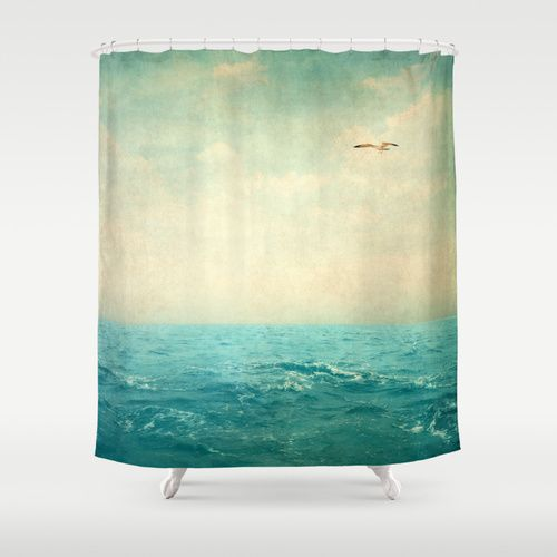 Beach Scene Shower Curtain Ocean Serenity