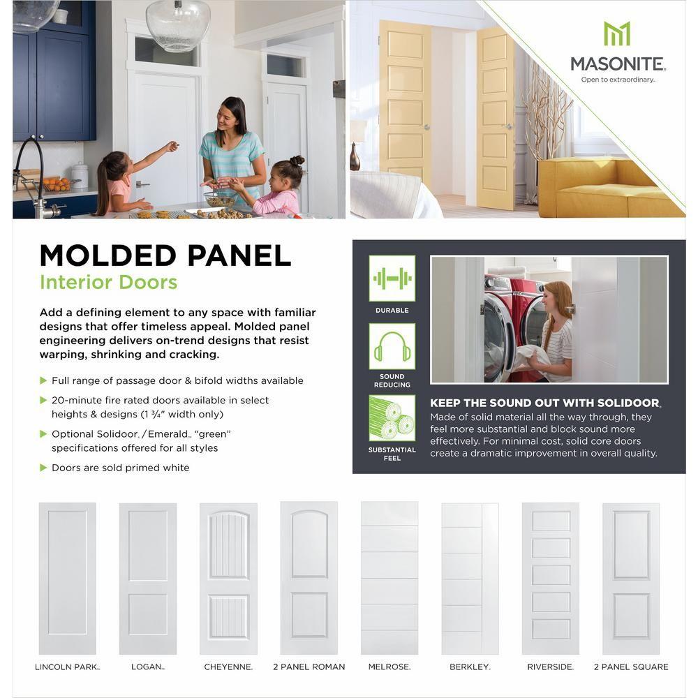 Masonite 30 In X 80 In Solidoor Riverside 5 Panel Solid Core Smooth Primed Composite Single Prehung Interior Door Primed White Prehung Interior Doors Prehung Doors Interior