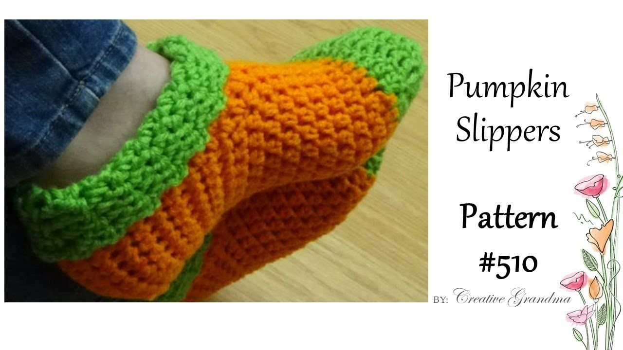 New Crocheted Pumpkin Slipper Booties Quick and Easy | crochet shoes ...