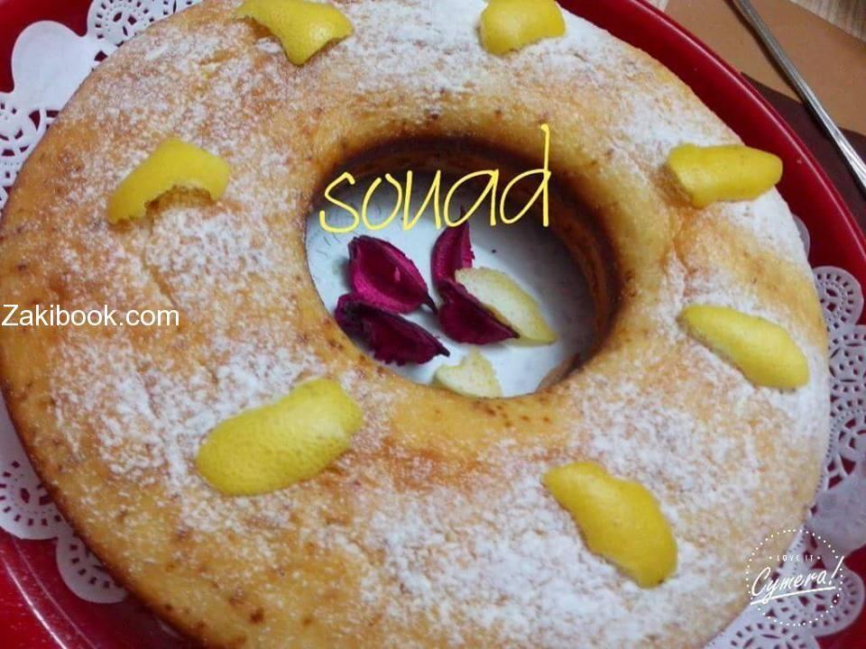 كيكة الليمون الاسفنجية الهشة والخفيفة زاكي Food Desserts Breakfast