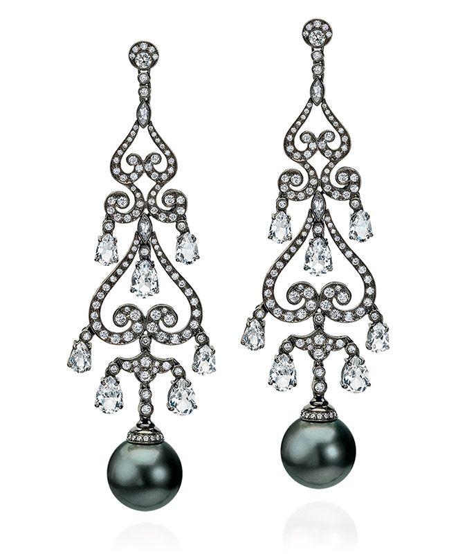 Tahitian Pearl Chandelier Earrings