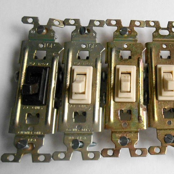 Vintage 6 Pc Ge Co 15a 120v Light Switch Toggle Switch Vintage Ge Generalelectric Lightswitch Toggle Switch Hardw Light Switch Home Repair Toggle Switch
