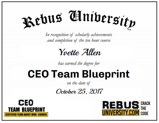 Congratulations to yvette allen for completing ceo team blueprint congratulations to yvette allen for completing ceo team blueprint course you rock malvernweather Images