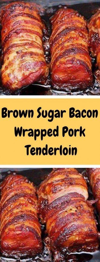 Super Meat Cuts Soy Sauce Ideas #meat | Bacon wrapped pork tenderloin