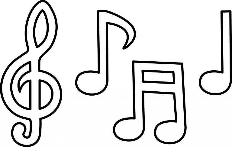 Free Printable Music Note Coloring Pages For Kids Music Notes Drawing Music Notes Art Music Coloring