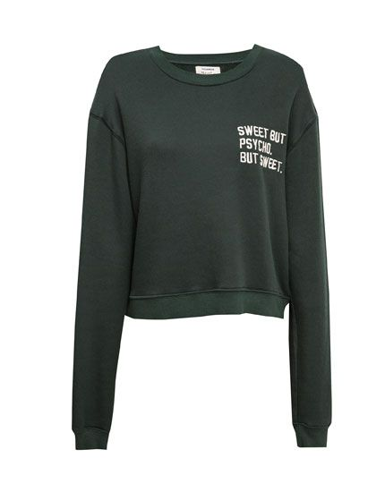 b8e78c683 SWEET BUT PSYCHO' CROP SWEATSHIRT - SWEATSHIRTS - WOMAN - PULL&BEAR United  Kingdom