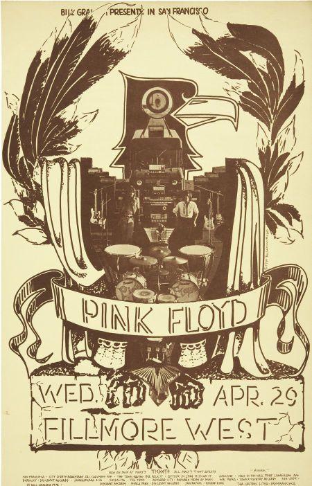 pink floyd concert posters | Pink Floyd Fillmore West Concert Poster Bg-230 ( : Lot 50398