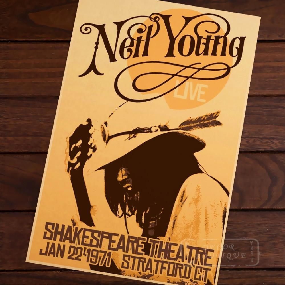 Neil Young Retro Poster Wall Art | Retro posters, Neil young and ...