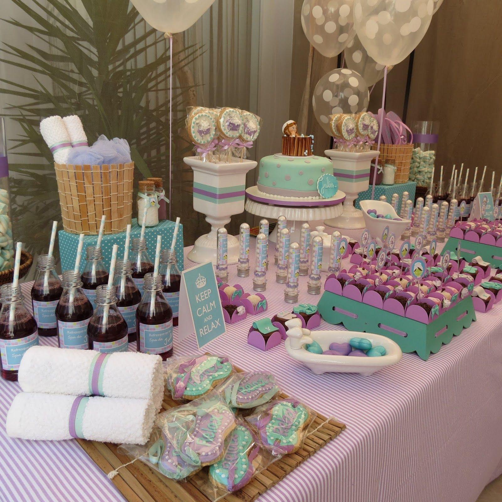 resultado de imagem para festa spa decora o decorando festas rh br pinterest com
